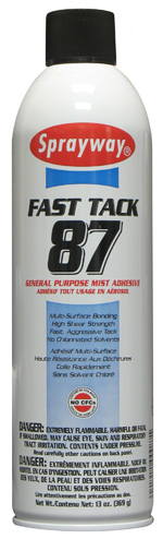 Sprayway #87 Fast Tack General Purpose Mist Adhesive
