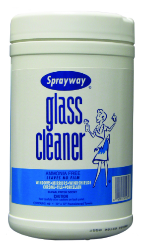 Sprayway #933 Glass Cleaner Wipes