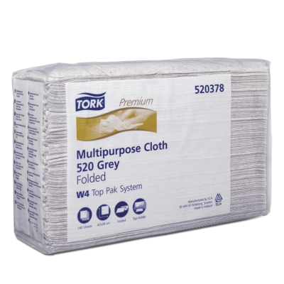Tork Premium Multipurpose Cloth 520 Top-Pak - Grey (W4)